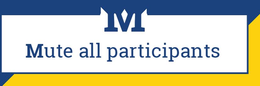 M: Mute all participants